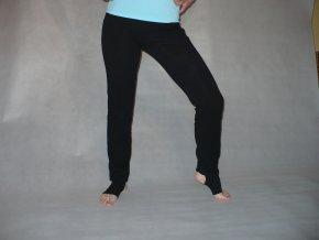 Yoga kalhoty black s manžetou