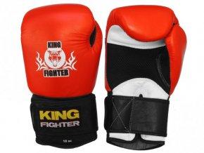 Boxerské rukavice King Fighter červeno/černé
