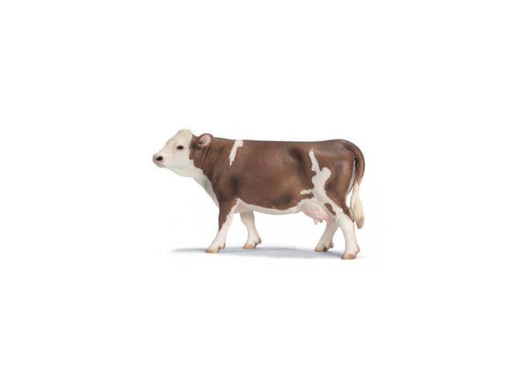 21174 schleich 13641 ceska simentalska hnedostrakata krava