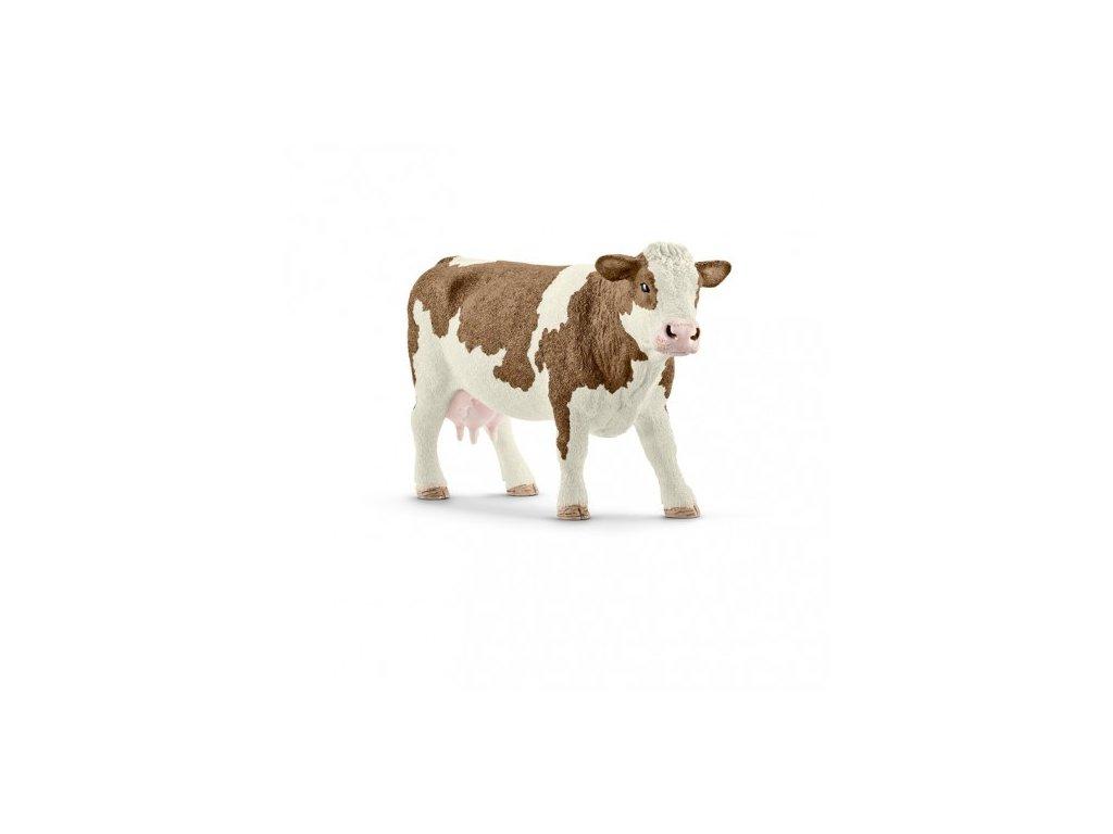 21441 schleich 13801 simmentalska krava
