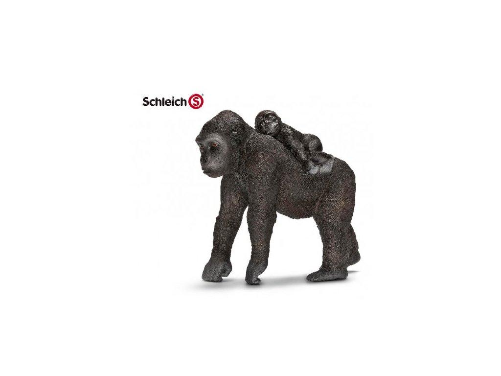 22080 schleich 14662 gorila samice s mladetem
