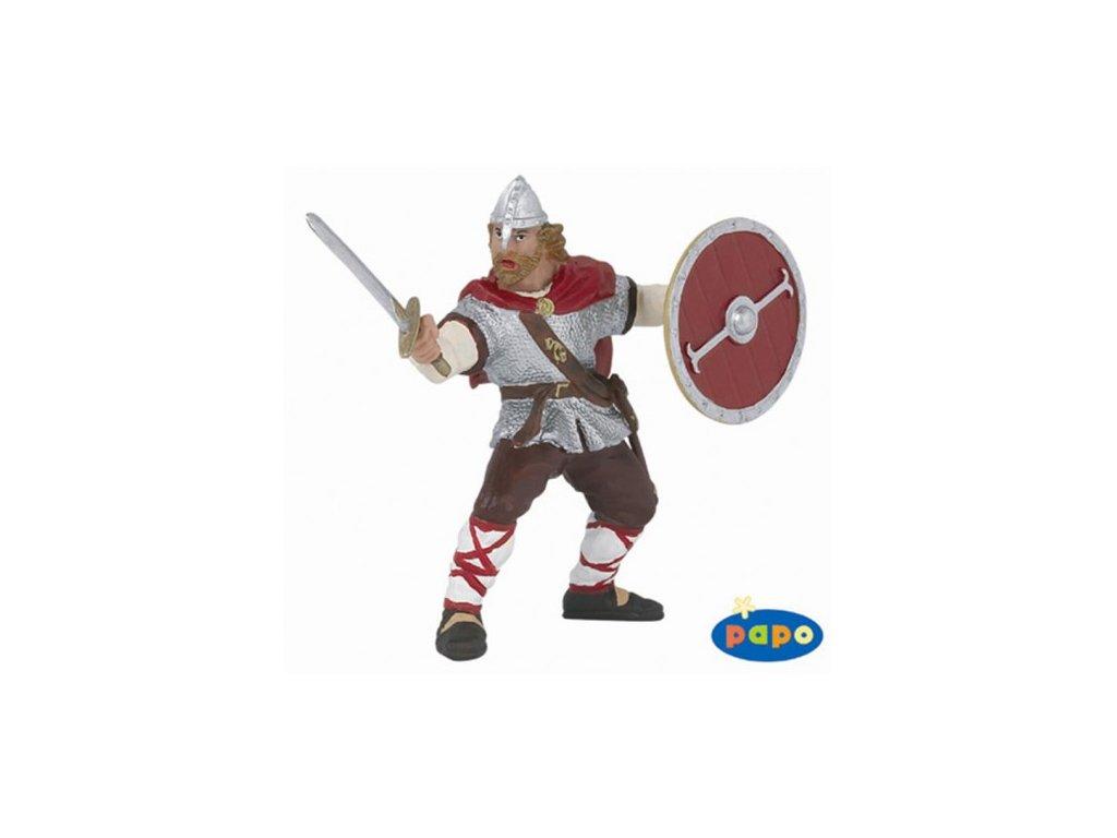 23184 papo 39617 viking s kulatym stitem cerveny