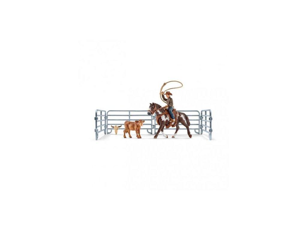 23310 schleich 41418 kovboj na koni v ohrade 2017