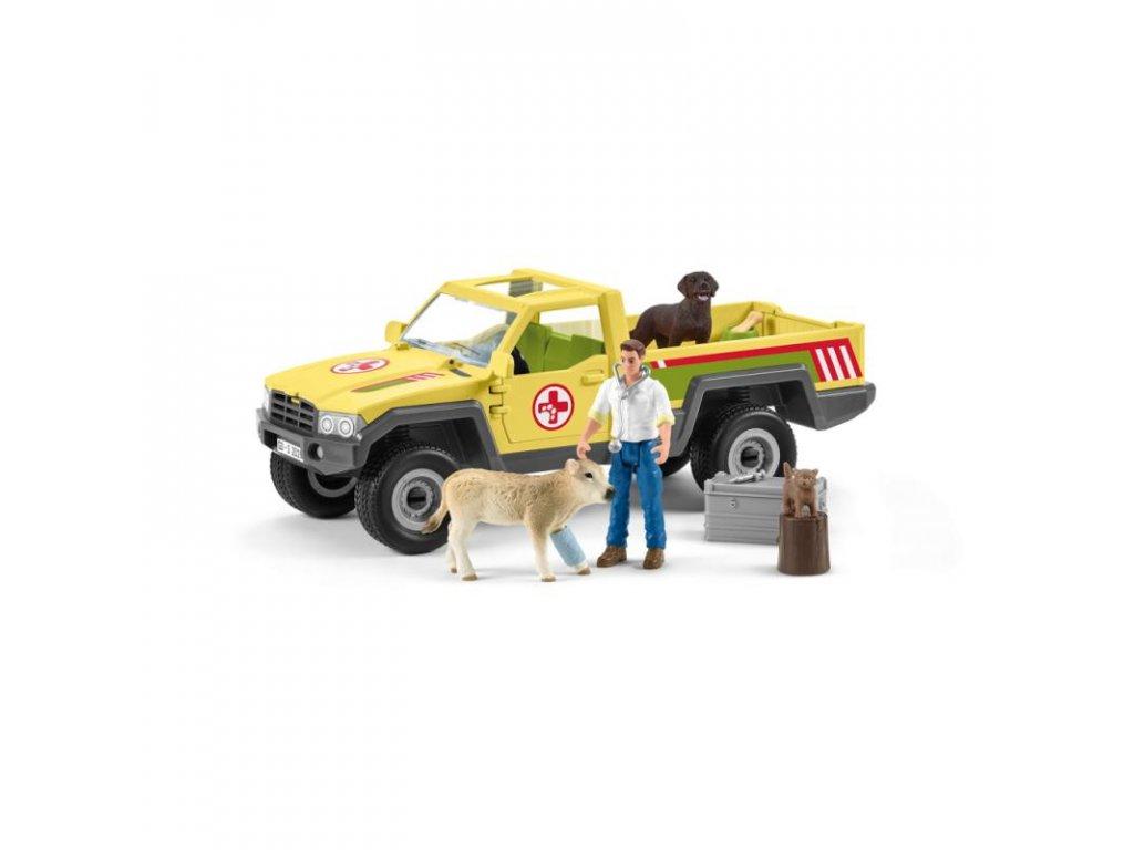 24461 schleich 42503 zachranne terenni auto s veterinarem