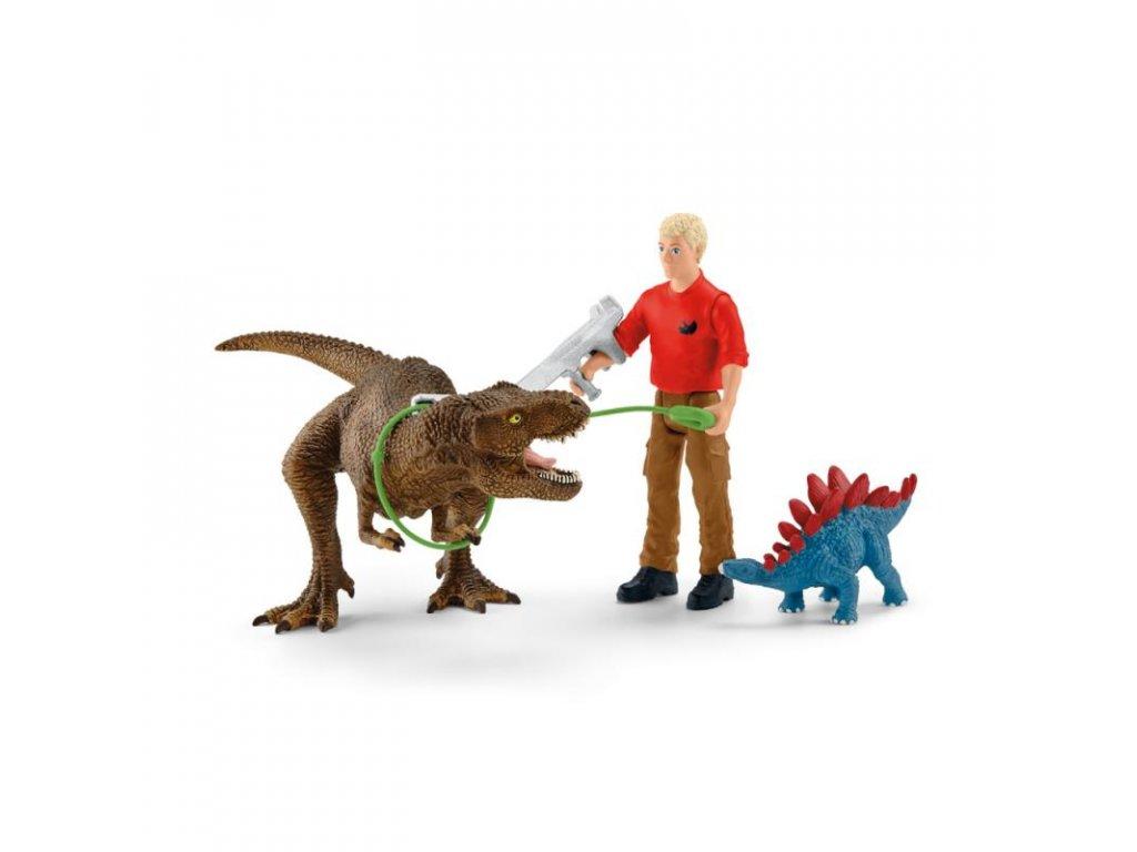 24623 schleich 41465 utok tyranosaura rexe