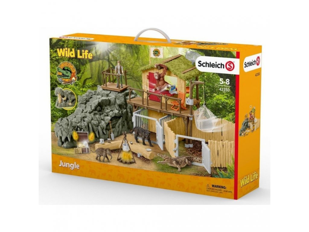 Schleich 42350 Výzkumná stanice v krokodýlí džungli