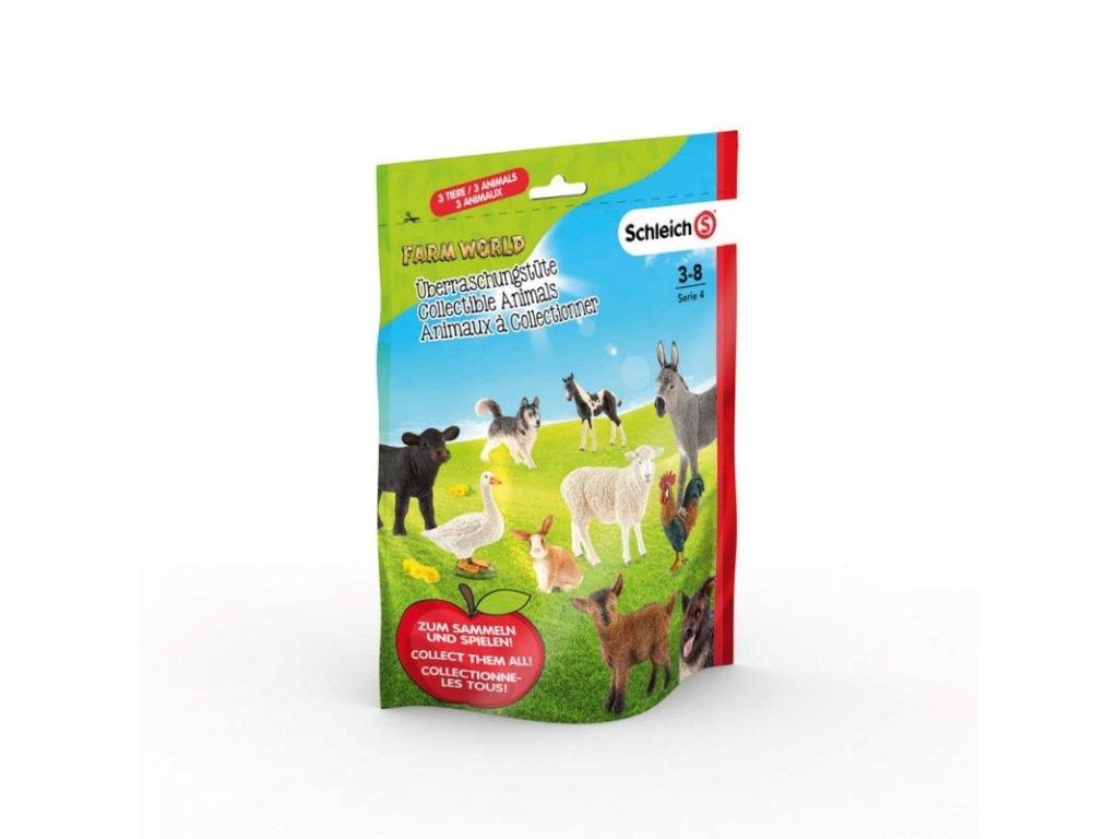 Schleich 87859 Sáček s překvapením - farmářská zvířátka L, série 4