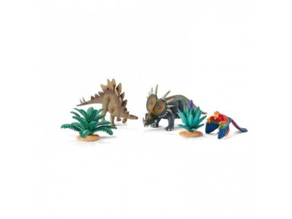 23496 schleich 42260 souprava dinosauru a kvetin