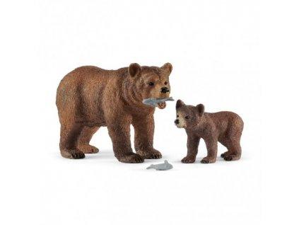 23691 schleich 42473 medvedice grizzly s mladetem 2019