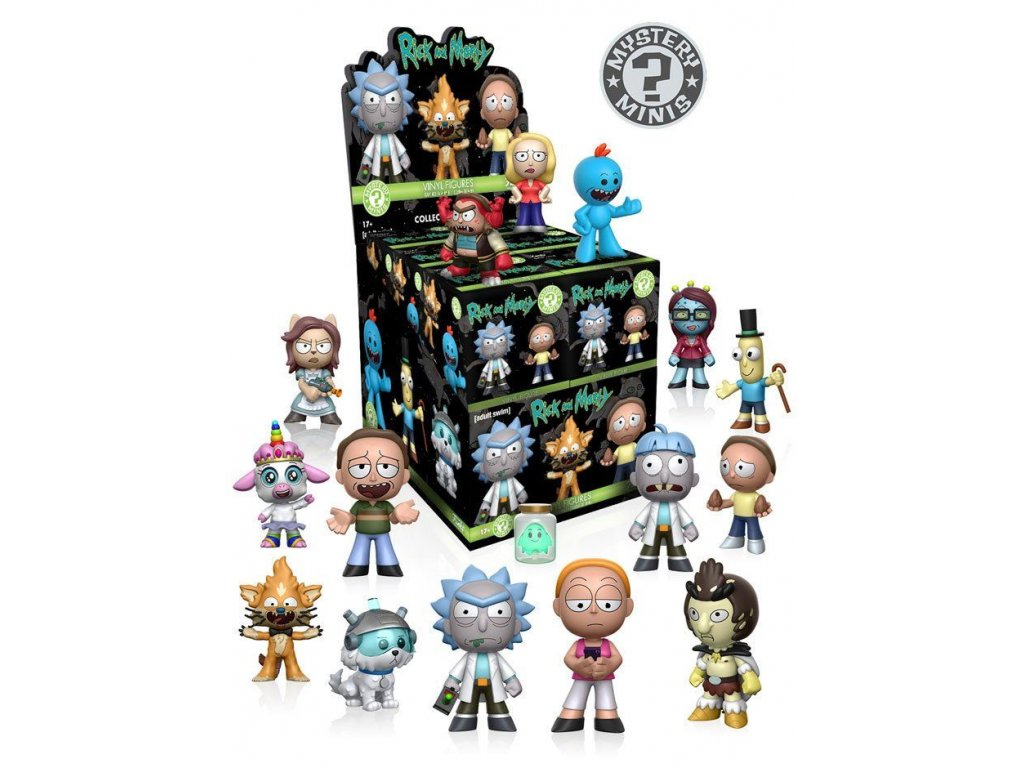 Rick and Morty Mystery Mini Figures 5 cm Display (12) Funko