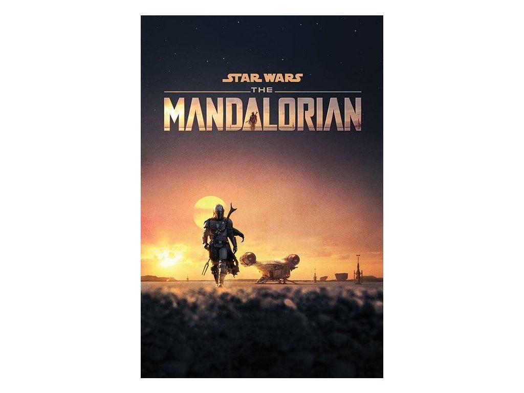 Star Wars The Mandalorian Plakát Soumrak 61 x 91 cm Pyramid International