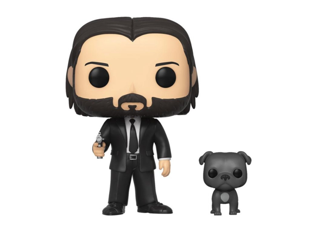 John Wick POP! Movies Vinyl Figure John Wick in Black Suit with Dog 9 cm Funko