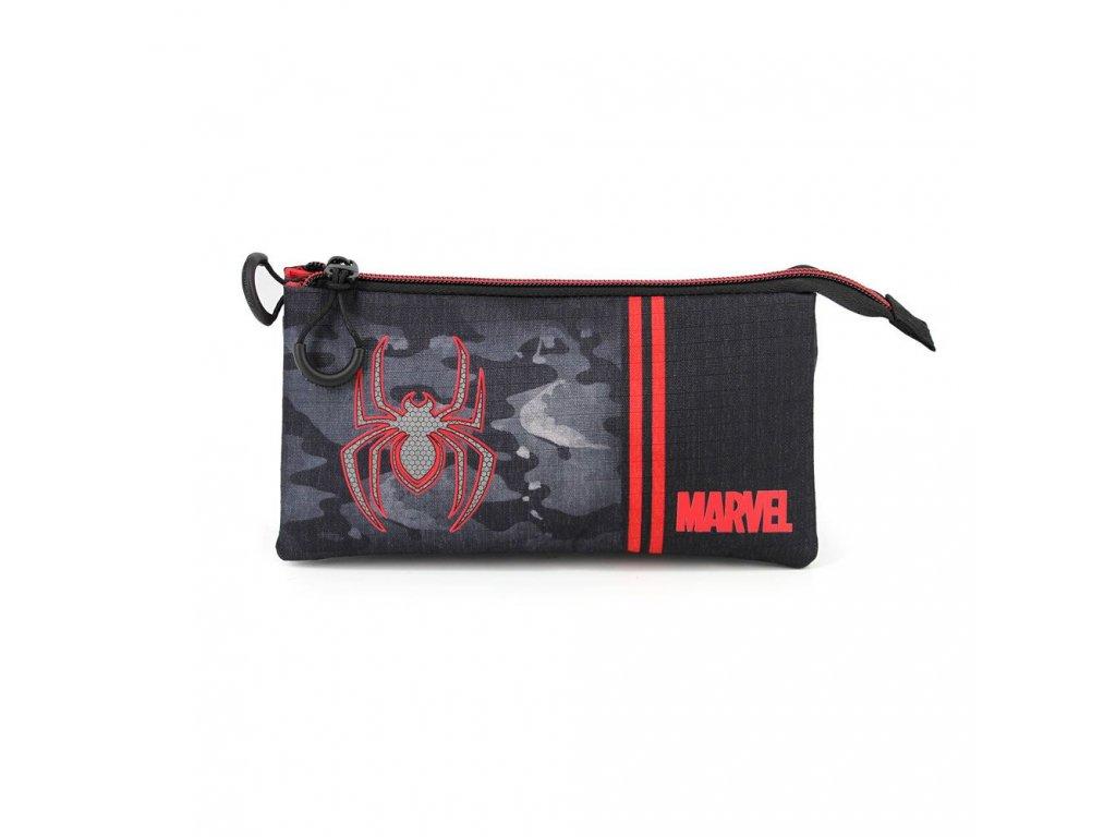 Marvel Pencil Case Spider-Man Dark Triple Karactermania