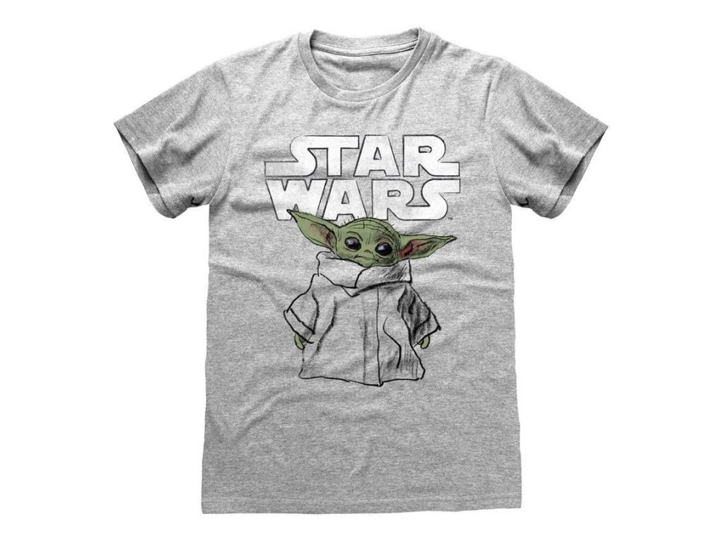 Star Wars The Mandalorian Tričko Child Sketch Heroes Inc