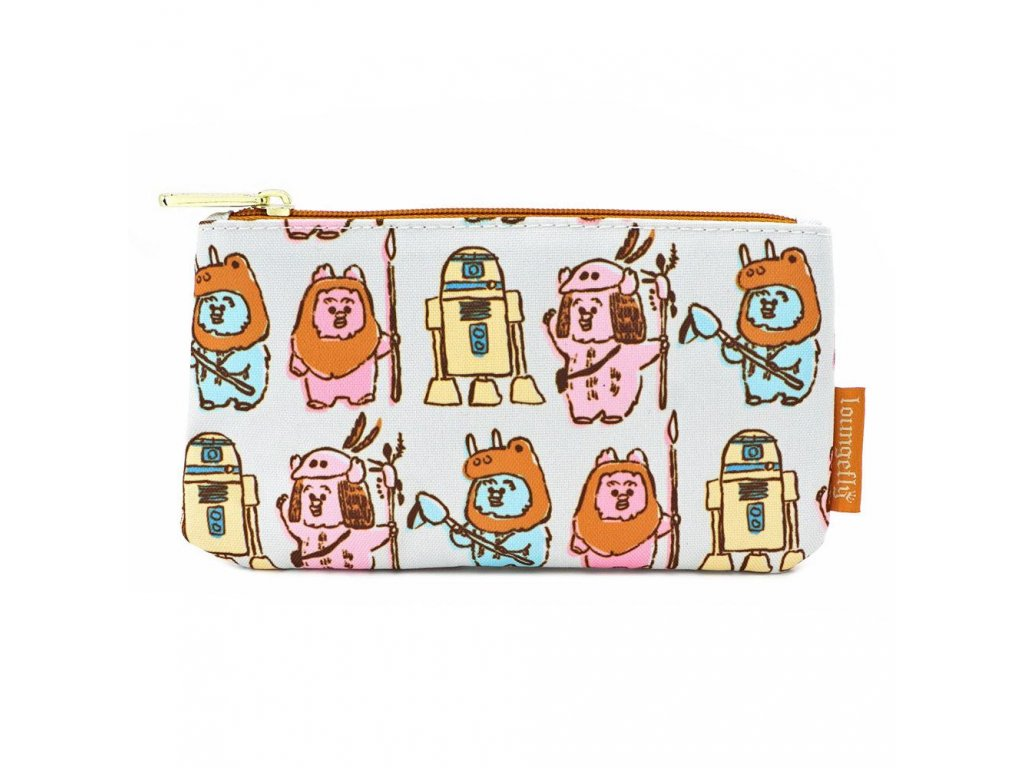 Star Wars by Loungefly Coin/Cosmetic Bag Pastel Ewoks AOP Loungefly