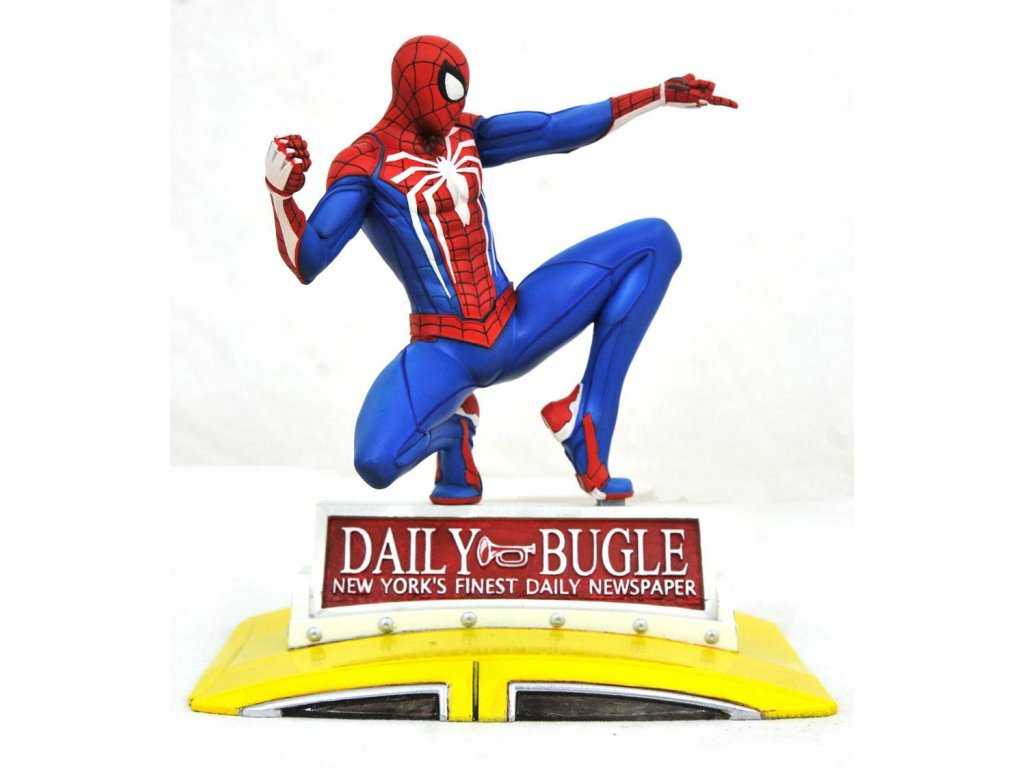 Marvel Gallery PVC Diorama PS4 Spider-Man on Taxi 23 cm Diamond Select