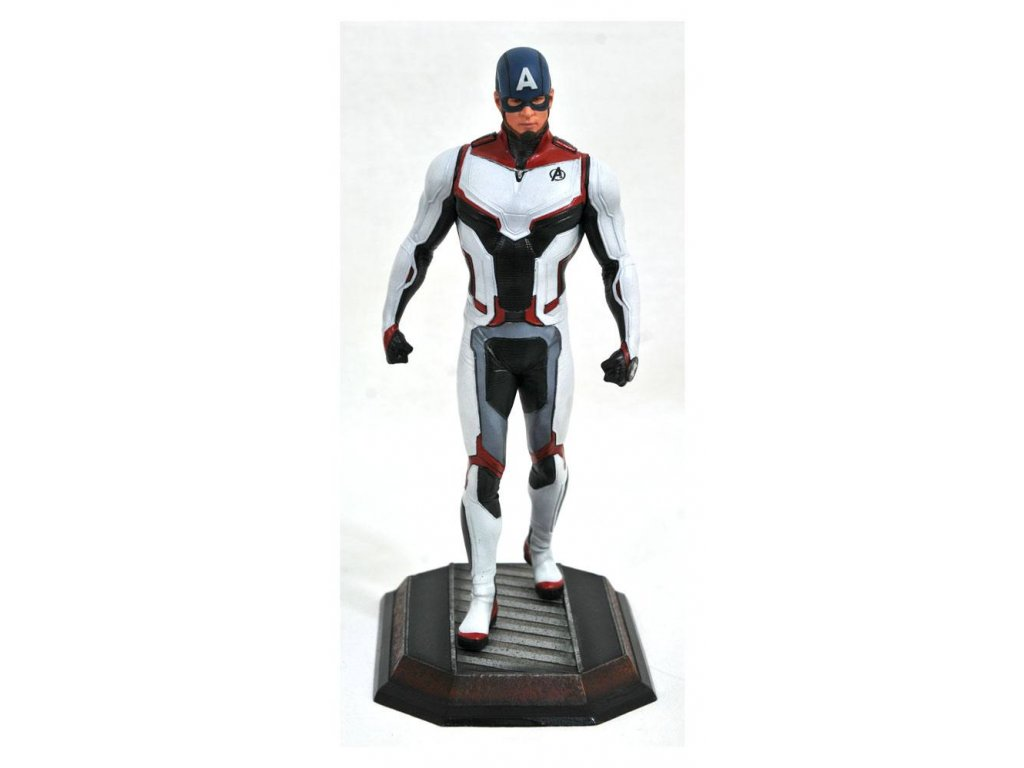 Avengers Endgame Marvel Movie Gallery PVC Statue Team Suit Captain America Exclusive 23 cm Diamond Select