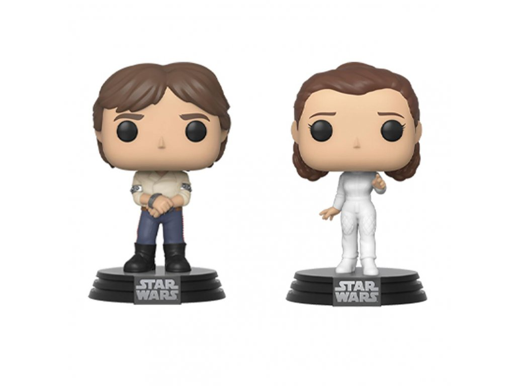 Star Wars POP! Movies Vinyl Figures 2-Pack Han & Leila Empire Strikes Back 40th Anniversary 9 cm Funko