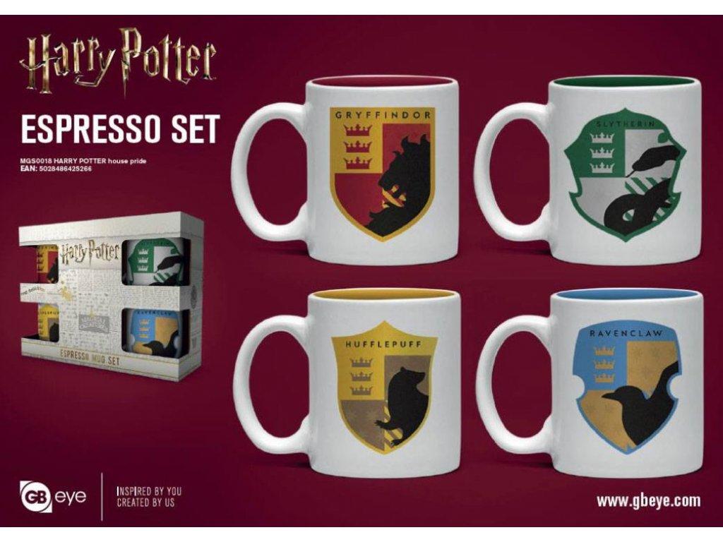 Harry Potter Espresso Mugs 4-Pack House Pride GB eye