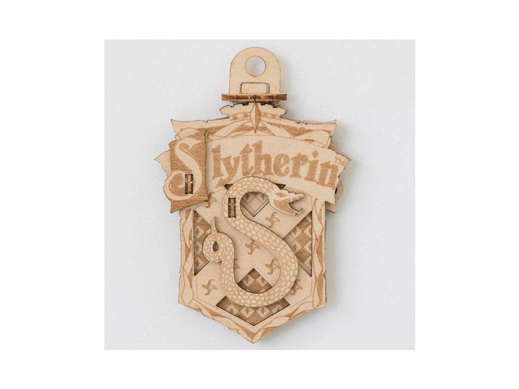 Harry Potter IncrediBuilds Emblematics 3D Wood Model Kit Slytherin Insight Editions