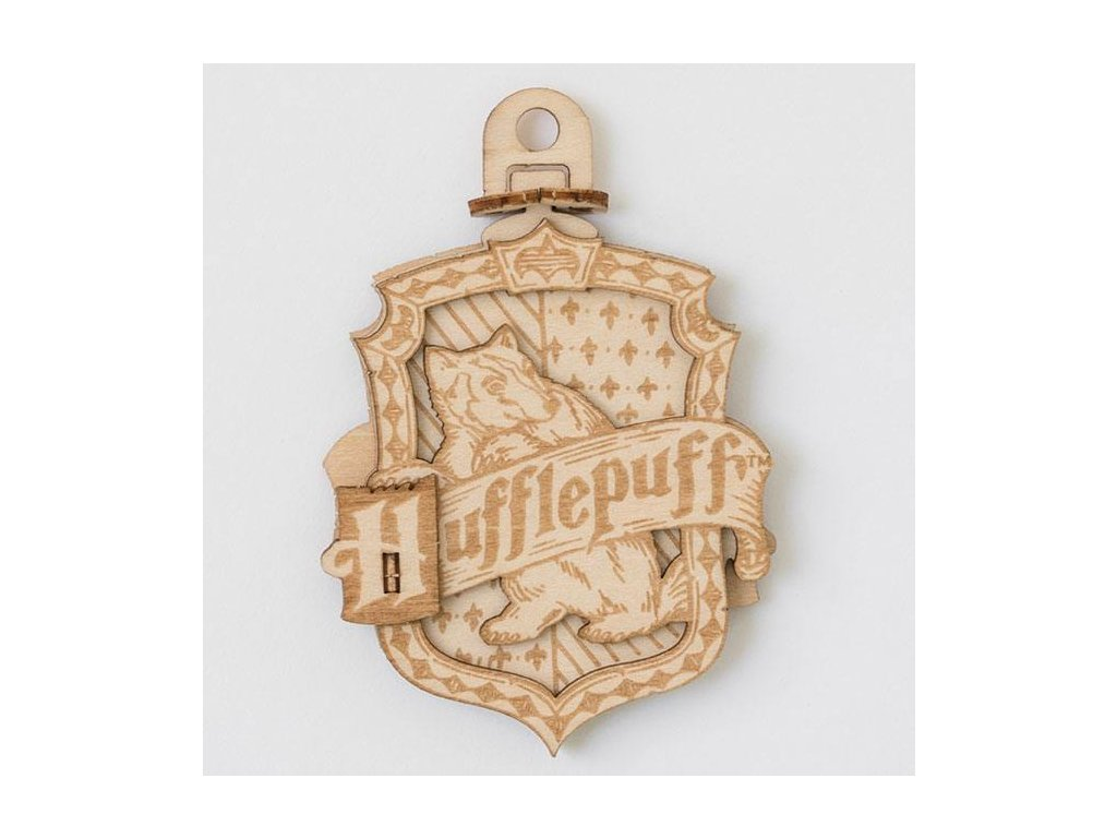 Harry Potter IncrediBuilds Emblematics 3D Wood Model Kit Hufflepuff Insight Editions