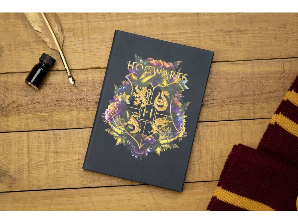 Harry Potter Notebook Hogwarts Floral Paladone Products