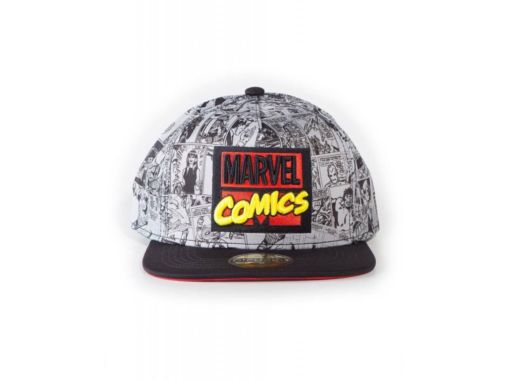 Marvel Comics Snapback Cap AOP Difuzed