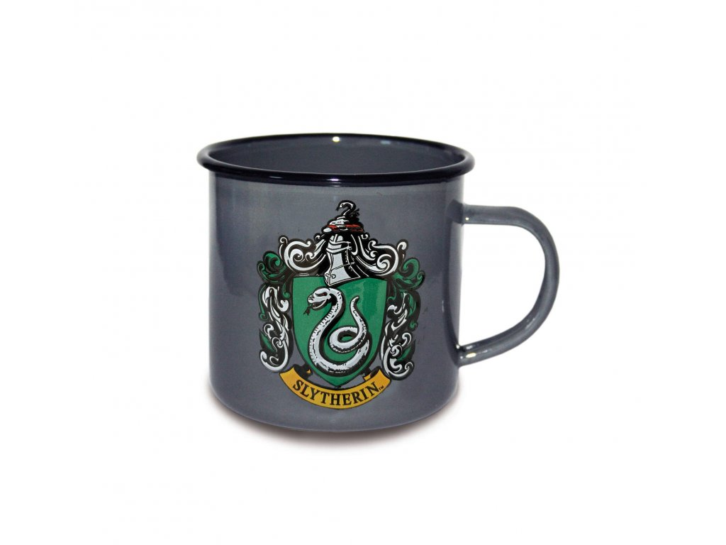 Harry Potter Enamel Mug Slytherin Logo Logoshirt