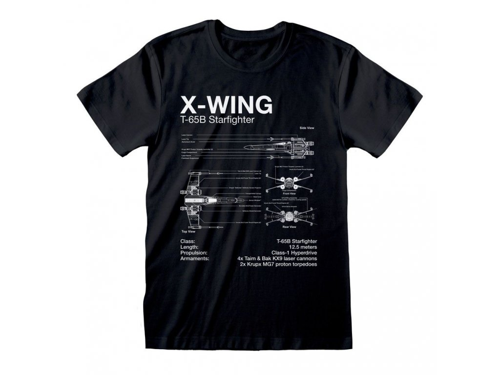 Star Wars T-Shirt X-Wing Sketch Heroes Inc