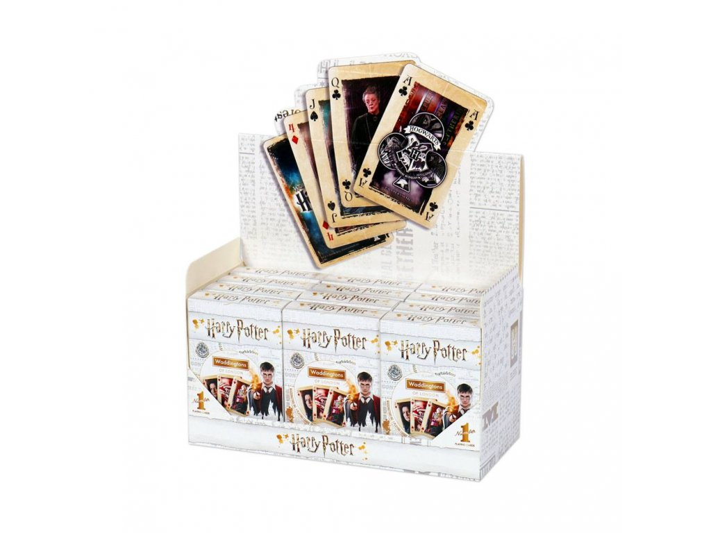 Harry Potter Waddingtons Number 1 Playing Cards Display (12) *French Version* Winning Moves