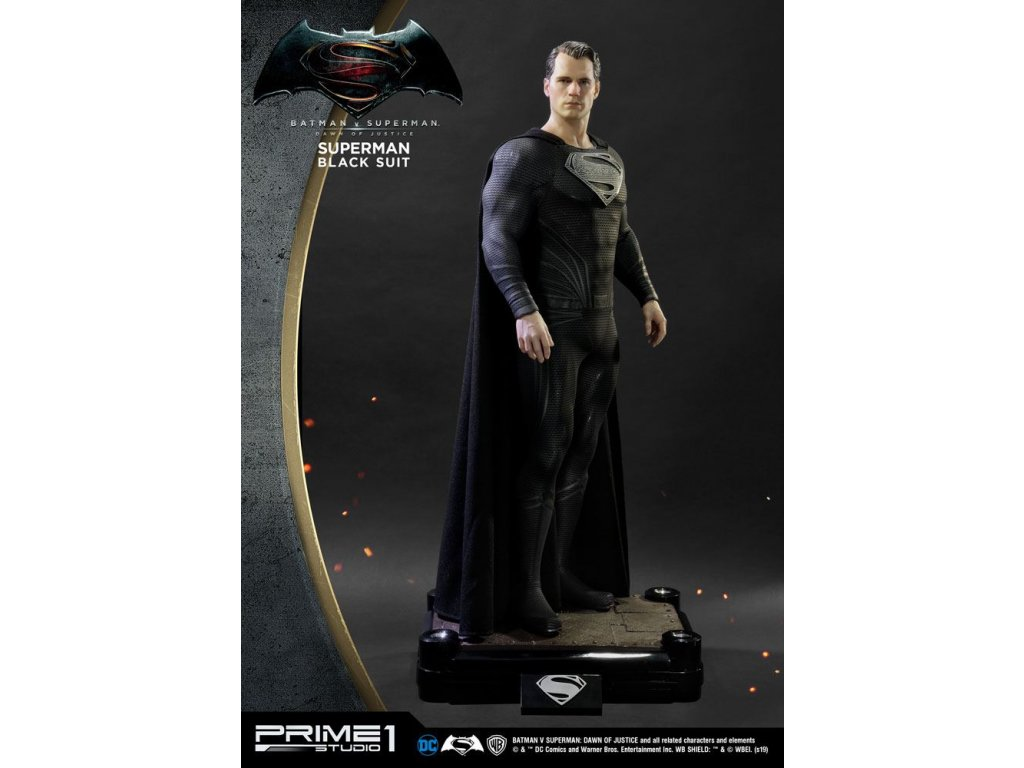 Batman v Superman Dawn of Justice 1/2 Statue Superman Black Suit Ver. 106 cm Prime 1 Studio