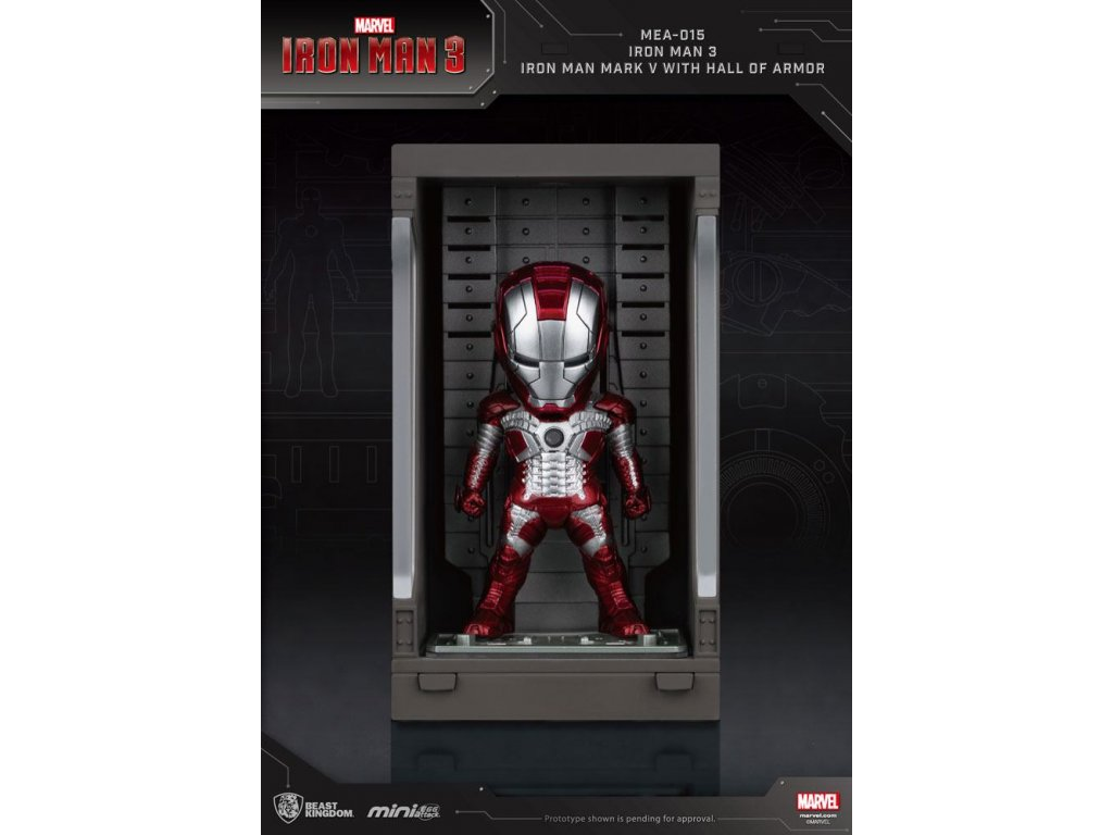 Iron Man 3 Mini Egg Attack Action Figure Hall of Armor Iron Man Mark V 8 cm Beast Kingdom Toys