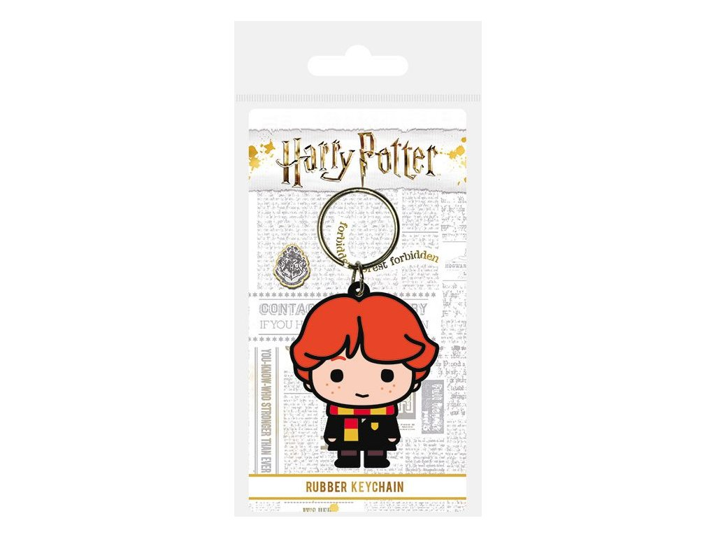 Harry Potter Rubber Keychain Chibi Ron 6 cm Pyramid International