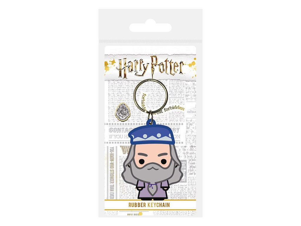 Harry Potter Rubber Keychain Chibi Dumbledore 6 cm Pyramid International