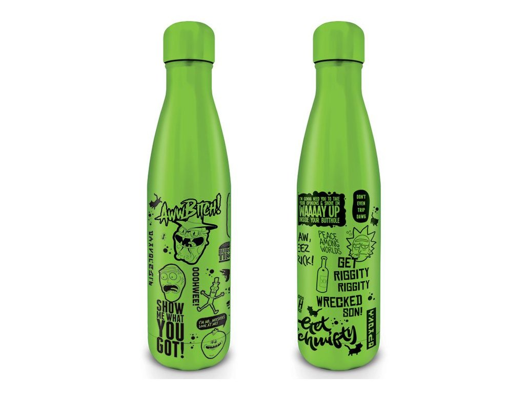 Rick and Morty Drink Bottle Quotes Pyramid International