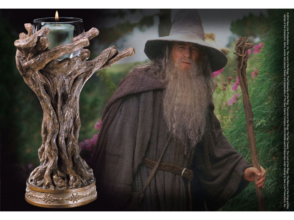Lord of the Rings Candle Holder Gandalf the Grey 23 cm Noble Collection