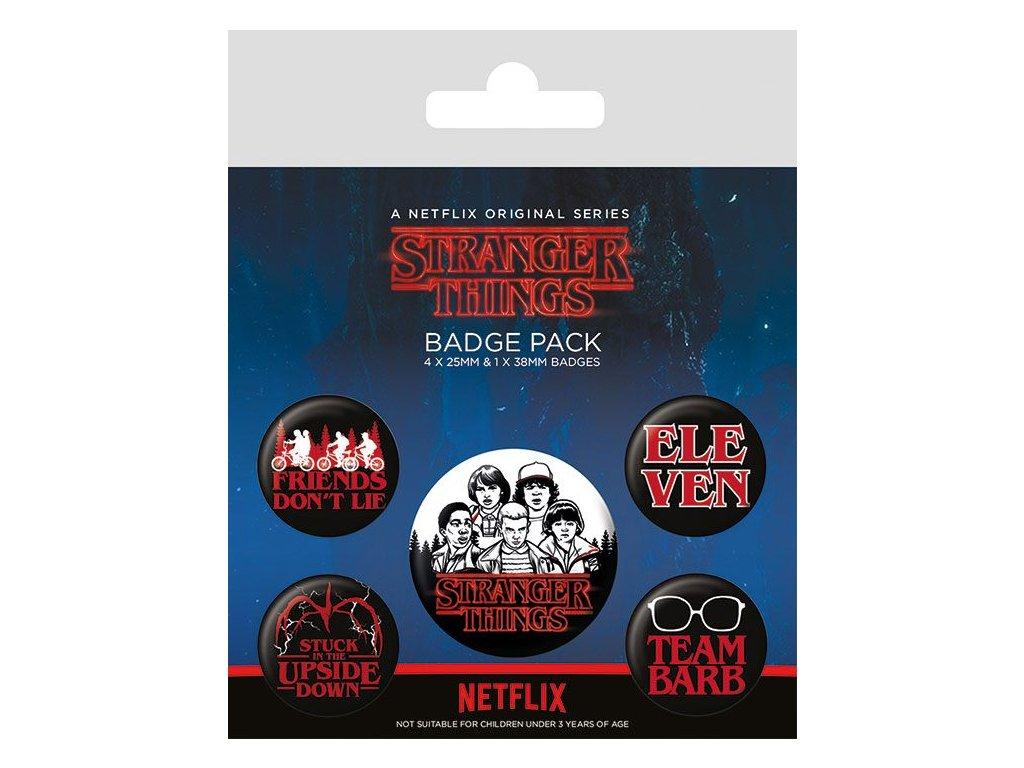 Stranger Things Pin Badges 5-Pack Characters Pyramid International