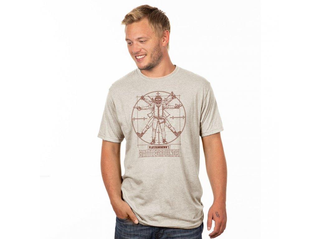 PUBG - Tričko Vitruvian Man (Premium) JINX