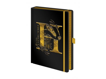 Harry Potter Premium Notebook A5 Hufflepuff Foil Pyramid International
