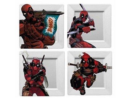 Marvel Plates 4-Pack Deadpool BANG! Funko