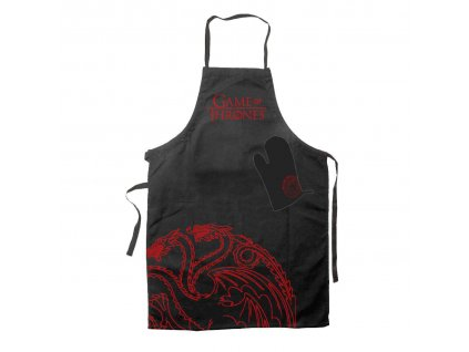 Game of Thrones cooking apron with oven mitt Targaryen SD Toys