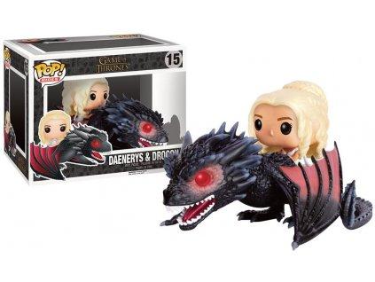 Game of Thrones POP! Rides Vinyl Figure Daenerys & Drogon 18 cm Funko