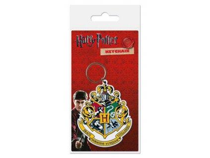 Harry Potter Rubber Keychain Hogwart's Crest 6 cm Pyramid International
