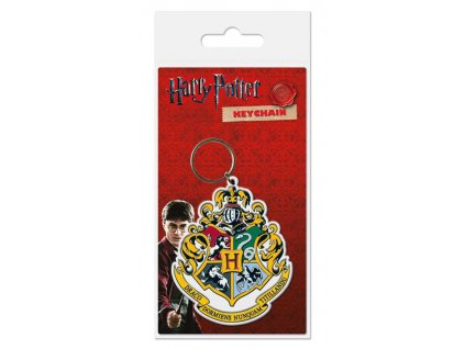 Harry Potter Rubber Keychain Hogwart's Crest 6 cm Pyramid International