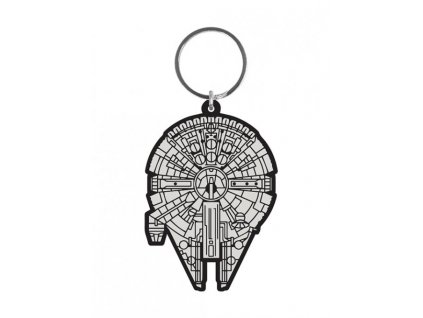Star Wars Rubber Keychain Millennium Falcon 6 cm Pyramid International