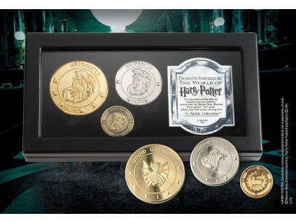 Harry Potter Replica The Gringotts Bank Coin Collection Noble Collection