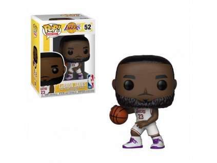 NBA POP! Sports Vinyl Figure LeBron James White Uniform (Lakers) 9 cm Funko