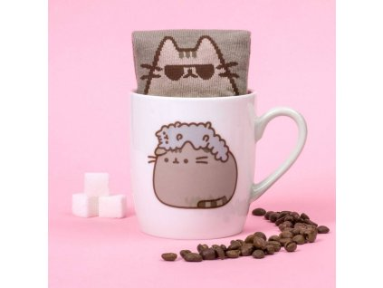 Pusheen Sock in a Mug Pusheen & Stormy Thumbs Up