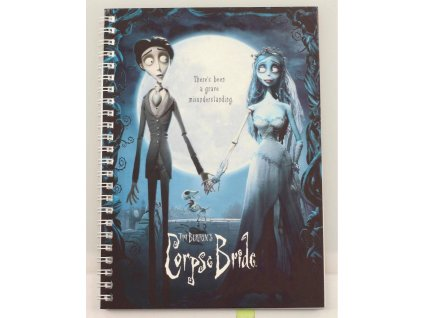 Corpse Bride Notebook Movie Poster SD Toys
