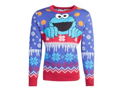 Sesame Street Knitted Christmas Sweater Cookie Monster Difuzed